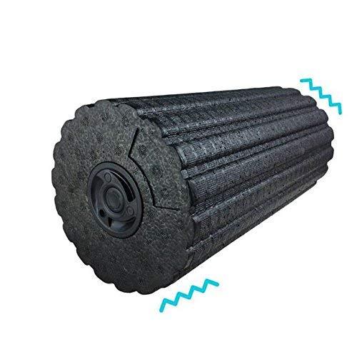 Shine 4-SPEED VIBRATING FOAM MASSAGE ROLLER WITH LED LIGHT PERFECT FOR DEEP TISSUE MUSCLE MASSAGE, GLUTEUS MAXIMUS, PLANTARIS,DELTOID,QUADRATUS LUMBORUM, HALF (Sport-massage-roller)
