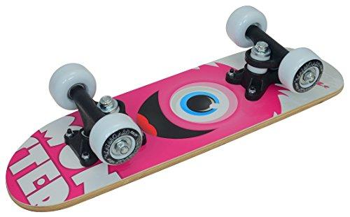 Truly Kinder Skateboard Mini 17 X 5, Rosa/Weiß, Zoll
