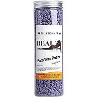 Vococal - 400G Perlas de Cera Depilatoria Caliente para Depilacion de Facial y Cuerpo (Olor a lavanda)
