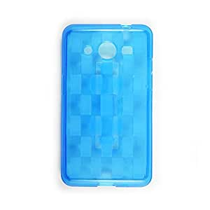 AVC Grip Soft TPU Grip & Stand Back Case Cover for Samsung Galaxy Core Prime SM-G360H Mobile Cell Phone (Blue)