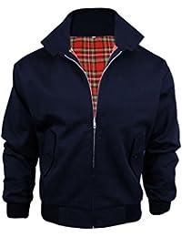 Mens Harrington Vintage Retro Mod Jacket - NAVY - M