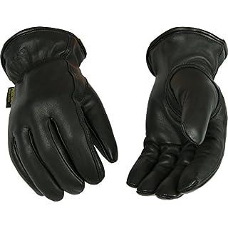 Kinco 93HK-M-1 Full grain goatskin, Easy-On cuff with elastic wrist, Ergonomic keystone thumb, Turned leather hem, Heatkeep thermal lining, Size: M
