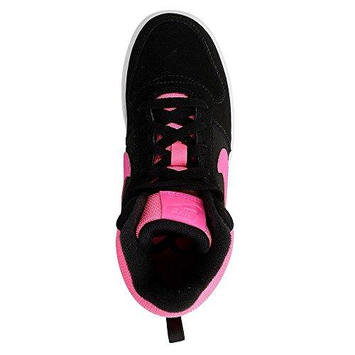 Nike Mädchen Court Borough Mid (Ps) Basketballschuhe Rosa-Schwarz