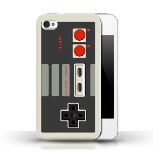 Kobalt Nintendo classico stampato Custodia Cover per Apple iPhone 4/4S cellulari telefoni / Collezione Giochi Console Collezione