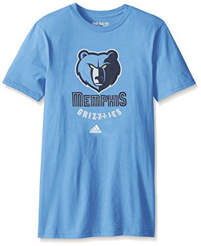 Memphis Grizzlies Adidas NBA Primary Logo Men's Light Blue T-Shirt (Basketball-t-shirt Light Blue)