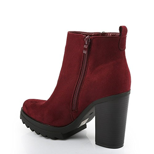Ideal-Scarpette Shoes a Lama spessa, effetto pelle scamosciata Elyna Rosso (rosso)