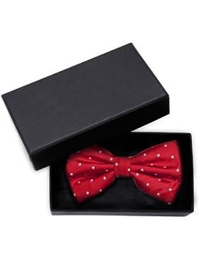 Corbata de lazo de Fabio Farini color rojo blanco