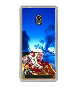 Fiobs Designer Back Case Cover for Asus Zenfone 5 A501CG (Gold Ganapati Ganesh Ganesha )