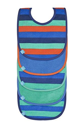 Lässig LTEXBVP006 Bavaglini, confezione risparmio da 5 pezzi, Bimbo, Linee multicolori