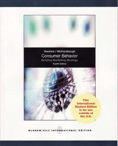 Consumer Behaviour by Delbert I. Hawkins (2012-03-01)