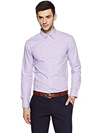 US Polo Association Men's Striped Slim Fit Cotton Formal Shirt
