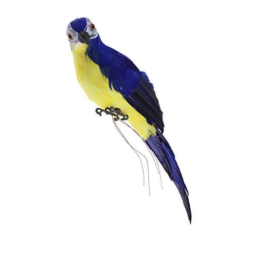 non-brand Sharplace Ornamento de Patio Frontones Decorativos Dosificadores de aliño Especias Muñeca de Loro - Azul