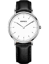 Kopeck ultrafino de las mujeres relojes de la moda concisa de cuarzo japonés resistente al agua analógico reloj