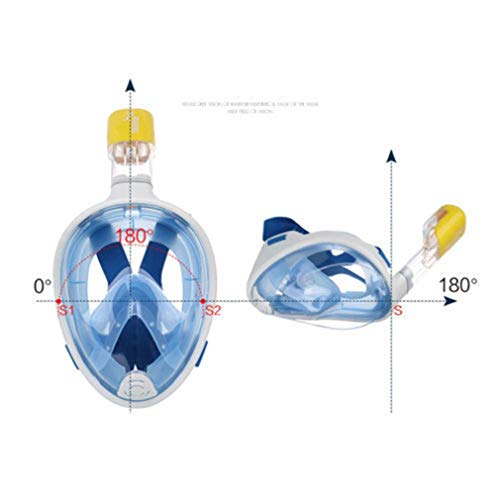 Buceo y snorkel Nihlssen Full Face Snorkel Mask Seaview 180° Anti-Fog Anti-Leak Longer Snorkeling Tube Universal Snorkel Mask for GoPro