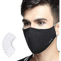 Máscara antipolución Lyanty Grado militar Máscara N99 Máscaras lavables de algodón para la boca Filtro reemplazable (Una máscara + 8 filtros)