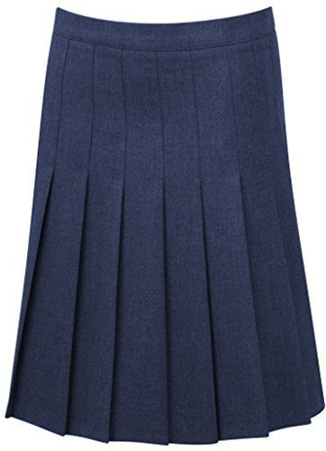 School-Uniform Senior Drop Waist Pleated School Skirt Girls Summer Schoolgear
