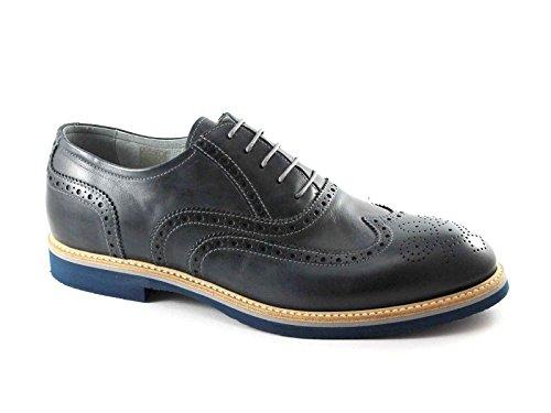NERO GIARDINI 4840 blu oceano scarpe uomo sportive eleganti francesina Blu