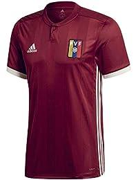 Adidas Venezuela Camiseta de Equipación, Hombre, Rojo (Buruni/blacre), ...