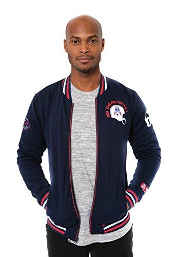 Icer Brands NFL bestickte Fleece-Jacke mit Reißverschluss, für Herren, NEW ENGLAND PATRIOTS L/S ZIP FRNT JACKET, navy