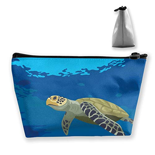 Cartoon Turtles at The Sea Women Cosmetic Bags Multifunktions-Kulturbeutel Organizer Travel Wash Lagerung (Trapez) - Tasche Daisy Make-up Duck