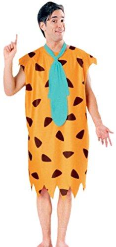erdbeerloft - Herren Karnevalskomplettkostüm Fred Flintstone, XL, Gelb (Fred Feuerstein Superhelden)