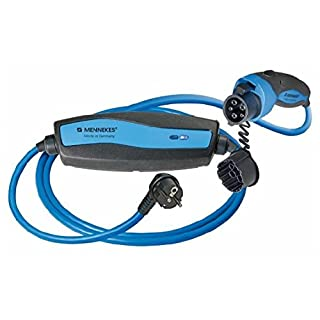 MENNEKES 35101100009 Ladekabel Stecker Typ 1 | Mode 2 | SCHUKO mit ICCB 13A | 8 m Länge