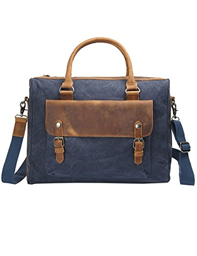 Menschwear Vintage Canvas Messenger Bags Casual Spalla Dell'imbracatura Pacchetto Daypack Verde Blu