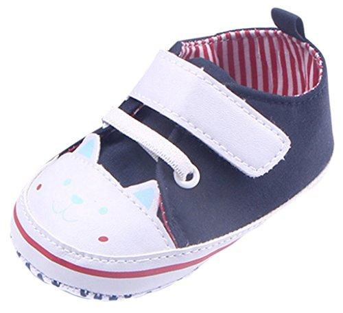 EOZY Babyschuhe Kinder Lauflernschuhe Canvas Sneaker Turnschuhe Blau