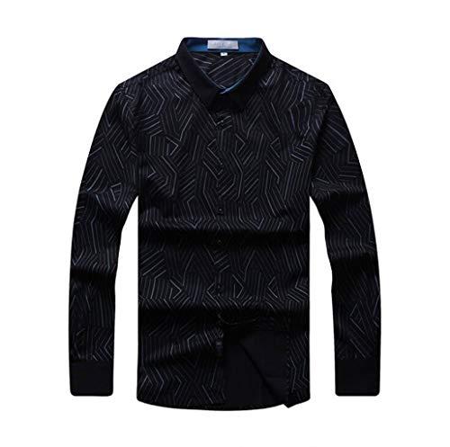 Herren Business-Hemden Lässige Unterhemden Komfortable Langarm-T-Shirts Persönlichkeit Große Polo-Shirts Gestickte Strickjacken Arbeitskleidung Herrenjacken Lose Tops ( Farbe : Rot , größe : XXL ) -