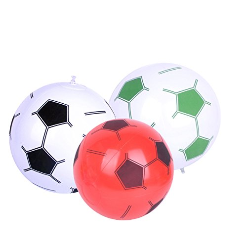 TOYMYTOY Palloni da calcio gonfiabili, Coppa del mondo Decorazione di calcio Bambini Beach Park Casa del giocattolo (colore casuale)