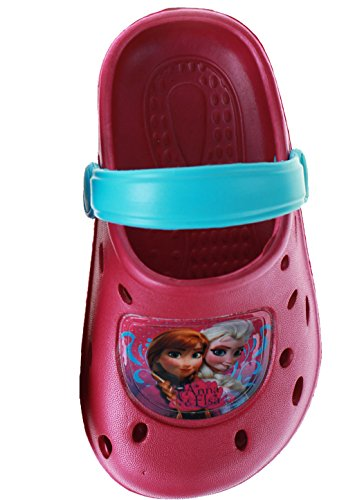 Mädchen Disney Gefroren Anna Elsa Beach Clogs / Sandalen (Anna Gefrorene Schuhe)