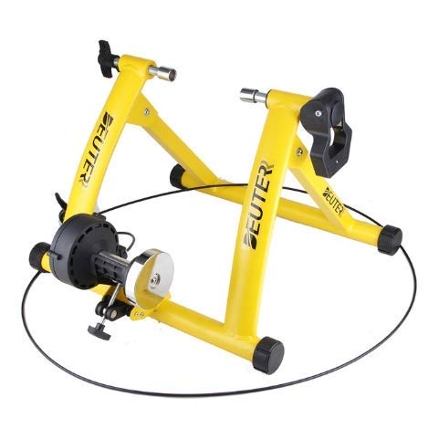 LCZHP Indoor Cycling Bike, Bike Trainer-Stand, Rennrad, Fahrradtrainingsplattform Indoor Cycling Plattform Radfahren Fitness-Rack,Gelb