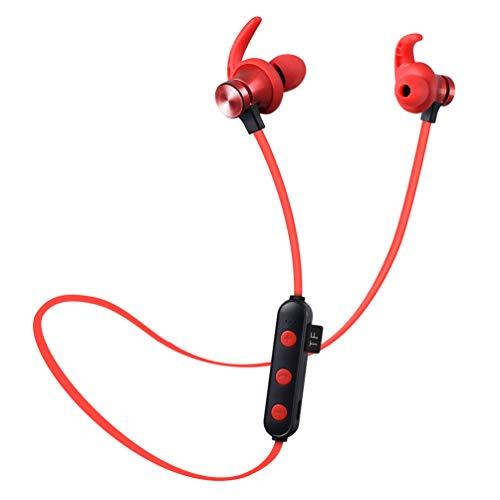 Ching Bluetooth KopfhöRer Ipx5 Sweatproof Sport Mit Micearbuds Im Mikrofon Ohr GeräUsch Das FüR Laufen Der Turnhalle Androiden Ios,red