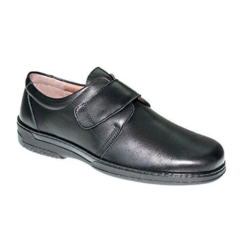 Zapato velcro hombre especial para diabéticos muy cómodo Primocx en negro talla 45