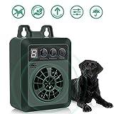 Queenmew Dispositivo Antiladridos, Ultrasónicos Impermeable Controlador de Ladridos para Perros, Recargable y Inofensivo Collares para Entrenamiento de Perro
