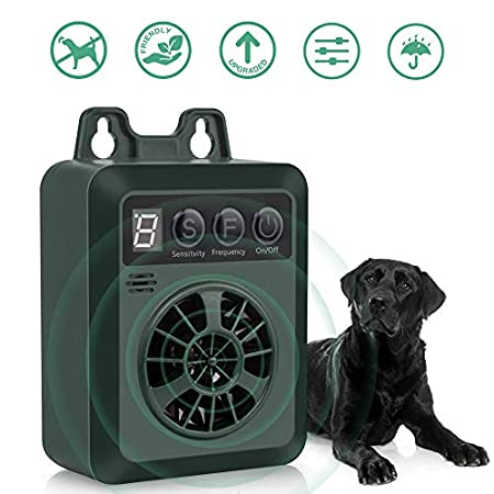 Queenmew Anti-Bell-Halsbänder, Wasserdichter Anti Bell Gerät, Ultraschall Hundeabwehr, Hundehalsband Gegen Bellen