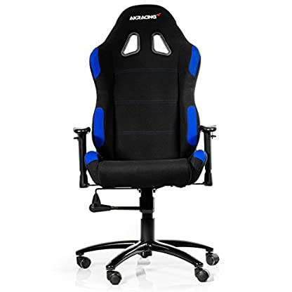 AK Racing – silla de gaming, K7012, color negro, de tela