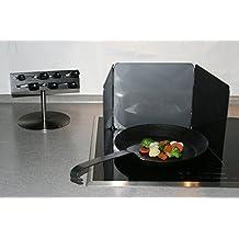 Spritzschutz Küche Länge 25 Cm Und Höhe 23 Cm Drei Faltbaren Klappen Aus  Metall Mit Antihaft