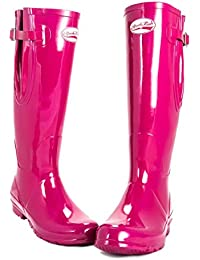 AWARD WINNING BOOTS Ladies Short Wellies Purple Grape Gloss Finish Cushioned Foot bed Natural Rubber SIZE