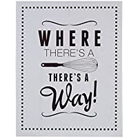 Premier Housewares Where There's a Whisk Wall Plaque - Grey