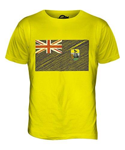 CandyMix St. Helena Kritzelte Flagge Herren T Shirt Zitronengelb