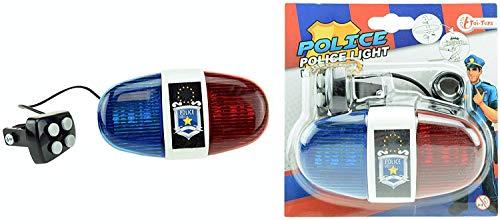 xtrafast Polizei Sirene mit 4 Tönen Rot Blau - Fahrrad-polizei