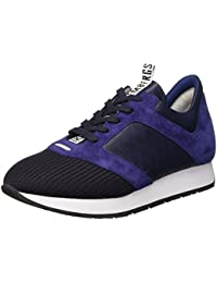 Bikkembergs Runn-er 656 L.Shoe M Fabric/Leather, Sandalias con Plataforma para Hombre