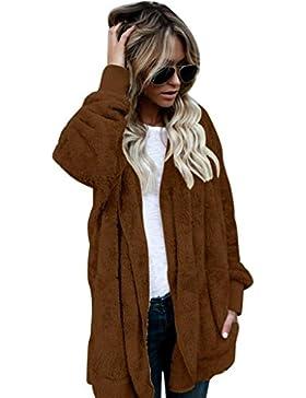 Escudo, abrigo,Internet Abrigo largo con capucha mujer Chaqueta con capucha Parka Outwear Abrigo de la rebeca