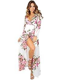 Vestido, Oyedens Vestidos maxi largos del vestido de la playa del partido de la gasa floral del boho de las mujeres sundress