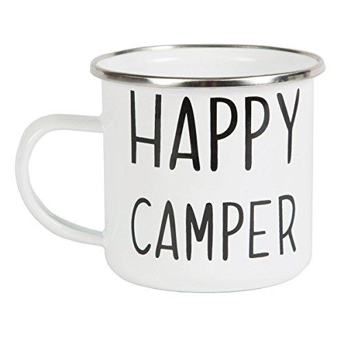 Emaillierte Kaffeetasse 'Happy Camper'