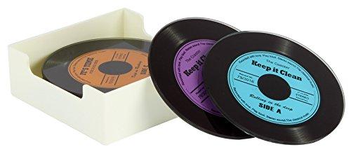 musikwissenschaft Set von 6Glas Vinyl Record Design Untersetzer
