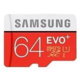 Samsung MicroSDXC 64GB EVO Plus UHS-I Grade 1 Class 10 Speicherkarte, für Smartphones und Tablets, mit SD Adapter [Amazon frustfreie Verpackung] thumbnail