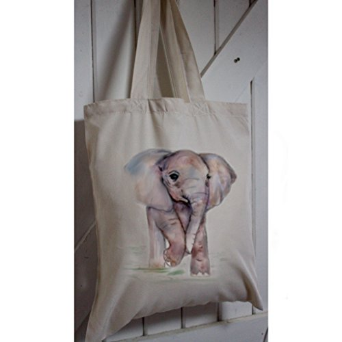 eco-tote-bag-made-from-recycled-plastic-bottles-with-baby-elephant-print-and-long-handles-cream-colo