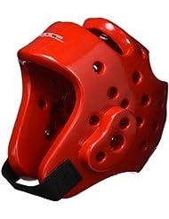 DEPICE Schutzausrüstung Kopfschutz - Casco de artes marciales, color rojo, talla S